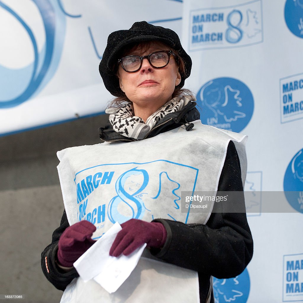 <a gi-track='captionPersonalityLinkClicked' href=/galleries/search?phrase=Susan+Sarandon&family=editorial&specificpeople=202474 ng-click='$event.stopPropagation()'>Susan Sarandon</a> attends the March On March 8 at the United Nations on March 8, 2013 in New York City.