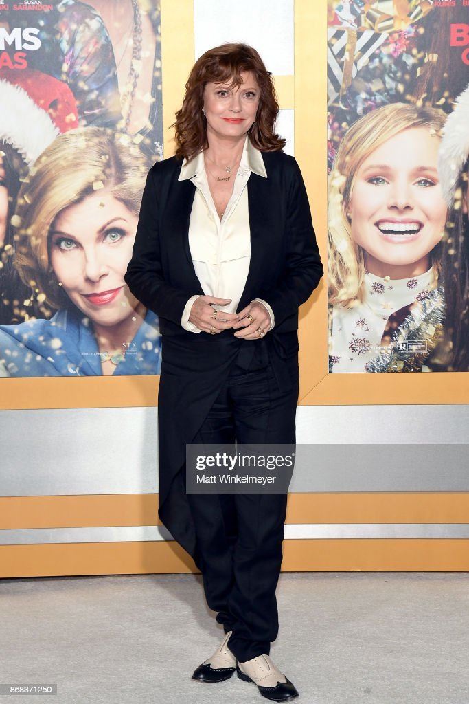 Susan Sarandon attends the premiere of STX Entertainment's 'A Bad Moms Christmas' at Regency Village Theatre on October 30, 2017 in Westwood, California.