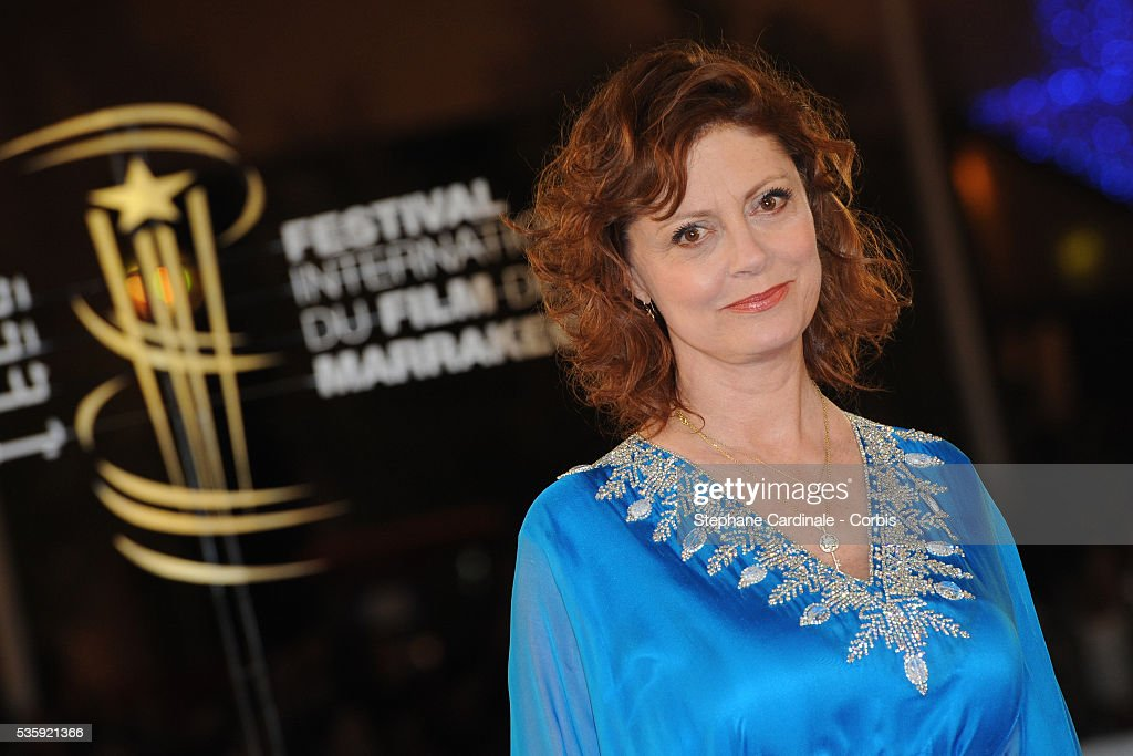 Susan Sarandon attends the Tribute to Harvey Keitel during the10th Marrakech Film Festival, in Marrakech.