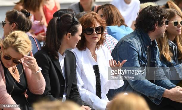 Susan Sarandon attends the Vanessa Schindler presented by MercedesBenz ELLE defile during 'Der Berliner Mode Salon' Spring/Summer 2018 at...