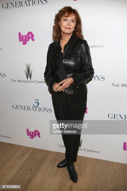Susan Sarandon attends The Weinstein Company and Lyft host a special screening of '3 Generations' on April 30 2017 in New York City