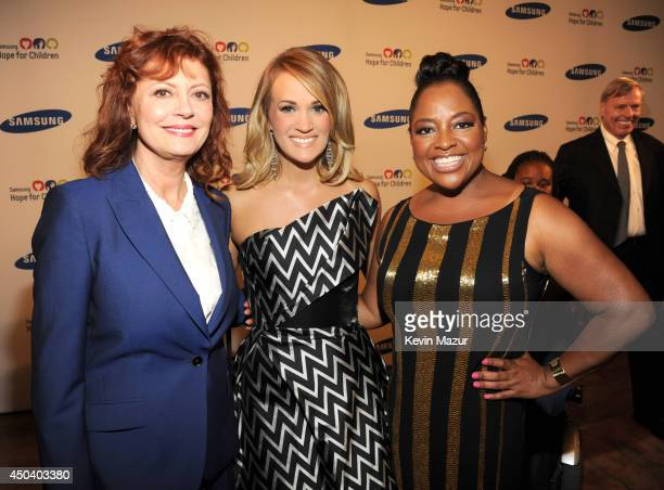 Susan Sarandon Carrie Underwood and Sherri Shepherd attend the Samsung Hope For Children Gala 2014 on June 10 2014 in New York City