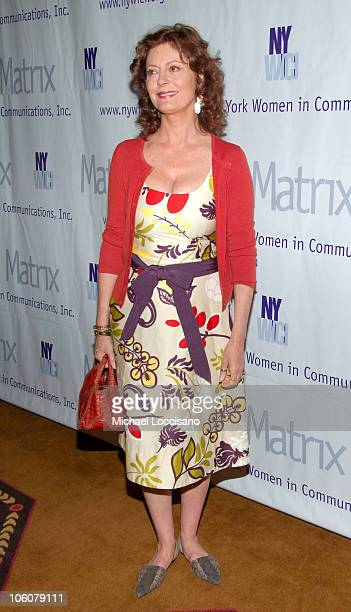 Susan Sarandon during 2006 Annual Matrix Awards at Waldorf Astoria in New York City New York United States