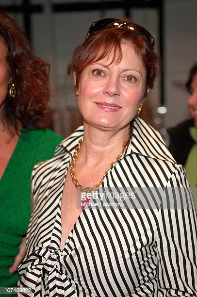 Susan Sarandon during Olympus Fashion Week Fall 2006 Diane von Furstenberg Front Row and Backstage at Bryant Park in New York City New York United...