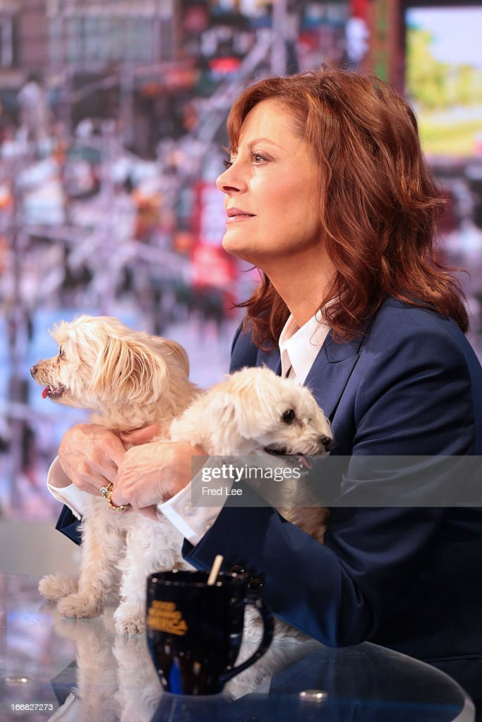 AMERICA - Susan Sarandon is a guest on 'Good Morning America,' 4/17/13, airing on the ABC Television Network on the ABC Television Network. SARANDON