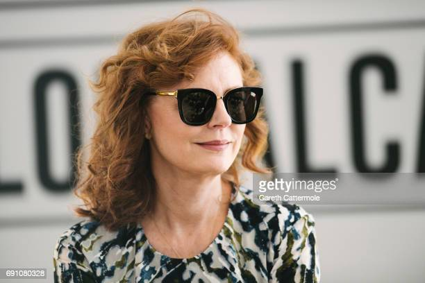 Susan Sarandon is photographed at the L'Oreal Paris Beach Studio during the 70th annual Cannes Film Festival on May 18 2017 in Cannes France