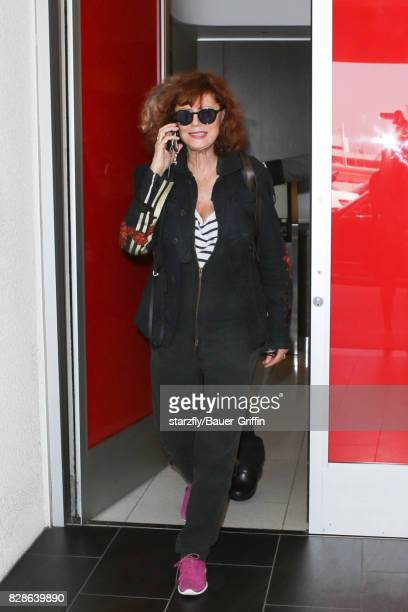 Susan Sarandon is seen at LAX on August 09 2017 in Los Angeles California
