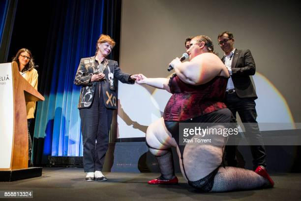 Susan Sarandon receives the Grand Honorary Award at the Sitges Film Festival 2017 before the projection of 'The Rocky Horror Picture Show' on October...
