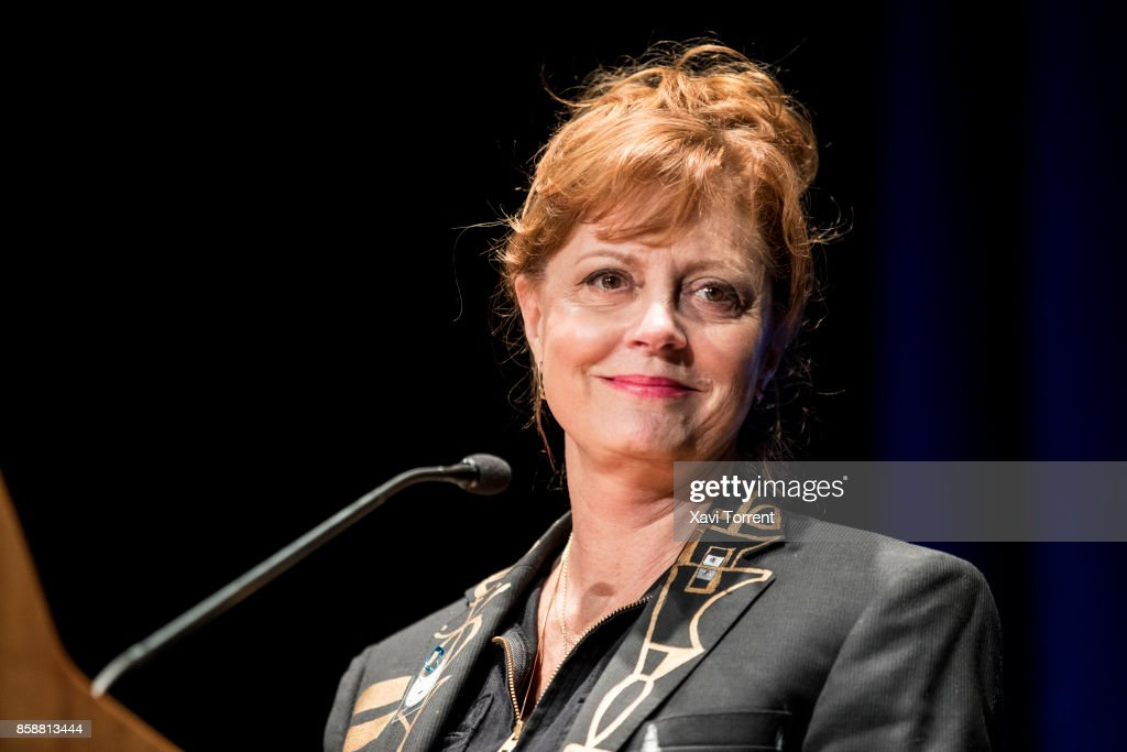 Susan Sarandon receives the Grand Honorary Award at the Sitges Film Festival 2017 before the projection of 'The Rocky Horror Picture Show' on October 7, 2017 in Sitges, Spain.