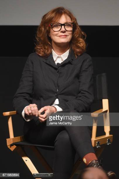 Susan Sarandon speaks onstage during a panel discussion for 'Bombshell The Hedy Lamarr Story' Premiere during the 2017 Tribeca Film Festival at SVA...