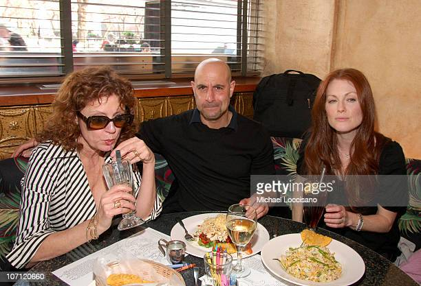 Susan Sarandon Stanley Tucci and Julianne Moore during Julianne Moore Susan Sarandon Stanley Tucci And Naomi Watts Celebrate the ReOpening of Union...