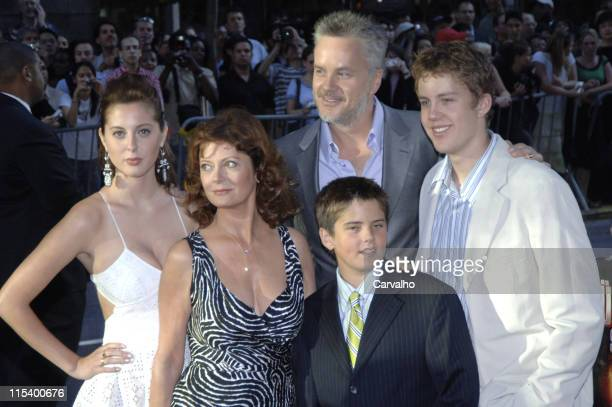 Susan Sarandon Tim Robbins and family during 'War of the Worlds' New York City Premiere Arrivals at Ziegfield Theater in New York City New York...
