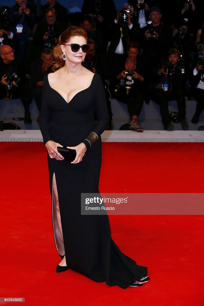 Susan Sarandon walks the red carpet ahead of the 'Victoria & Abdul' screening during the 74th Venice Film Festival at Sala Grande on September 3, 2017 in Venice, Italy.