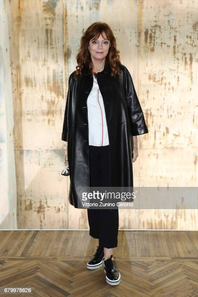 Susan Sarandon while attending the Prada Resort 2018 Womenswear Show in Osservatorio on May 7 2017 in Milan Italy