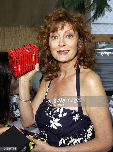 Susan Sarandon with a Guess Watch during The 2002 Teen Choice Awards Backstage Creations Talent Retreat Day 2 at Universal Amphitheater in Universal...