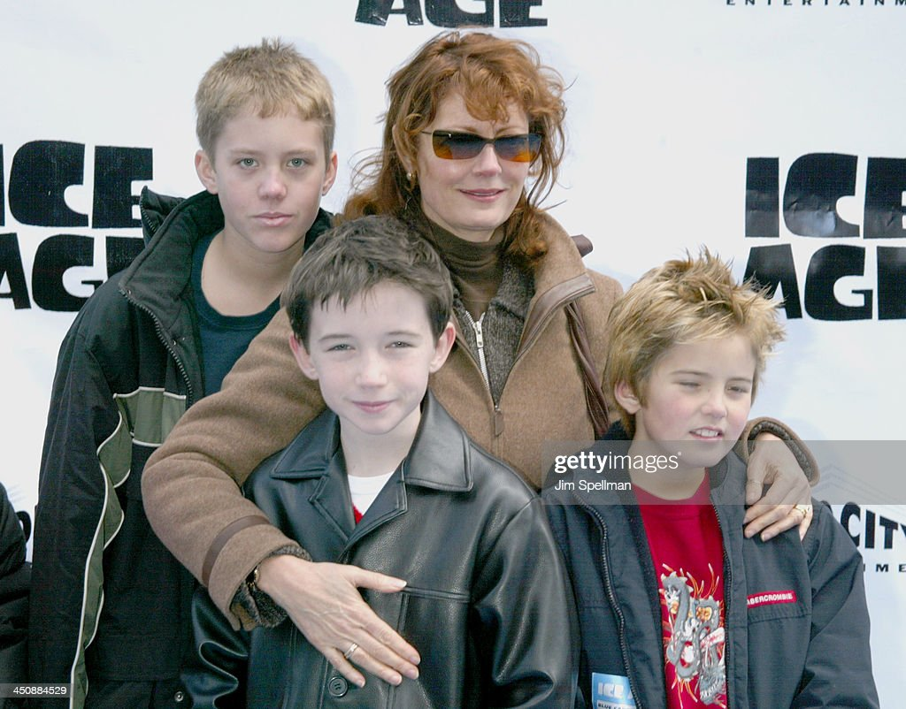 Susan Sarandon with her children & actor Liam Aiken