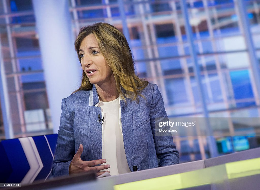 Susan Scher, partner and head of investment grade and risk group at Goldman Sachs Group Inc., speaks during a Bloomberg Television interview in New York, U.S., on Wednesday, June 29, 2016. Scher discussed corporate bond issuance and how Brexit may actually help the market. Photographer: Eric Thayer/Bloomberg via Getty Images