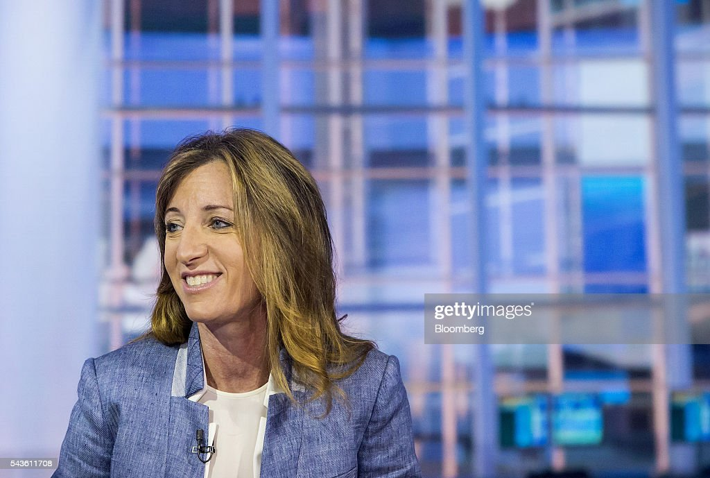 Susan Scher, partner and head of investment grade and risk group at Goldman Sachs Group Inc., listens during a Bloomberg Television interview in New York, U.S., on Wednesday, June 29, 2016. Scher discussed corporate bond issuance and how Brexit may actually help the market. Photographer: Eric Thayer/Bloomberg via Getty Images
