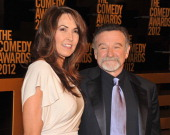 Susan Schneider and comedian Robin Williams attend The Comedy Awards 2012 at Hammerstein Ballroom on April 28 2012 in New York City