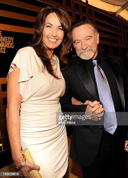 Susan Schneider and Robin Williams attend The Comedy Awards 2012 at Hammerstein Ballroom on April 28 2012 in New York City