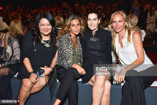 Susan Shin Guest Jennifer Creel and Valesca GuerrandHermes attend Vivienne Tam SS2017 Runway Show at The Arc Skylight at Moynihan Station on...
