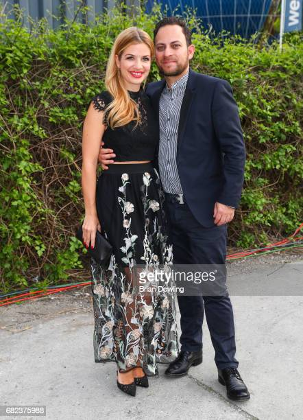 Susan Sideropoulos and husband Jakob Shtizberg arrives at the GreenTec Awards at ewerk on May 12 2017 in Berlin Germany