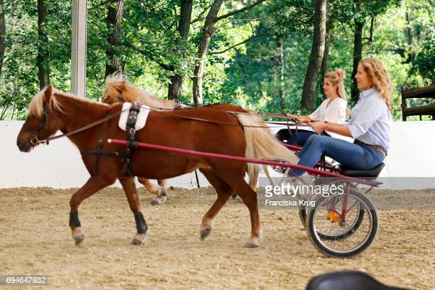 Susan Sideropoulos and Katja Burkard during the Balve Optimum International Horse Show on June 10 2017 in Balve Germany