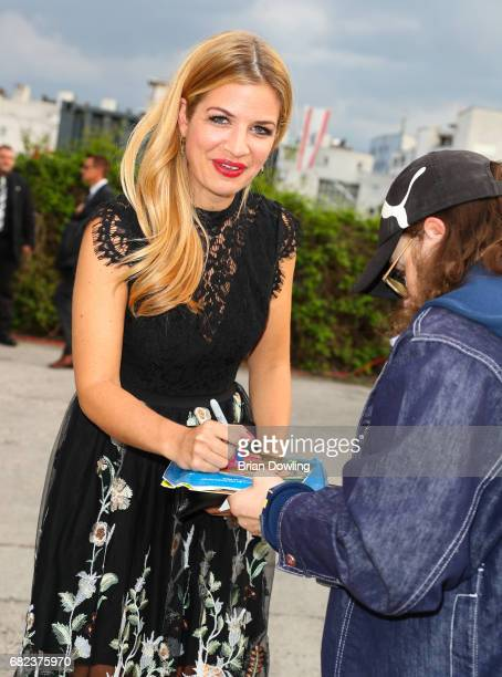 Susan Sideropoulos arrives at the GreenTec Awards at ewerk on May 12 2017 in Berlin Germany