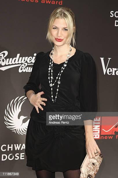 Susan Sideropoulos arrives for the 'new faces award' 2011 at the bcc on April 7 2011 in Berlin Germany
