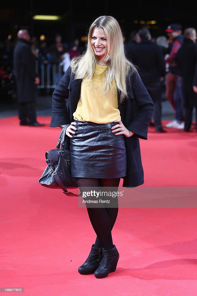 Susan Sideropoulos attends the 'Der Schlussmacher' Berlin Premiere at Cinestar Potsdamer Platz on January 7, 2013 in Berlin, Germany.