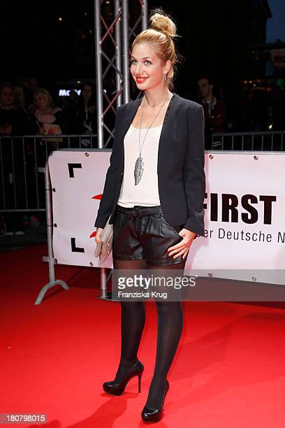Susan Sideropoulos attends the First Steps Awards 2013 at Stage Theater on September 16 2013 in Berlin Germany
