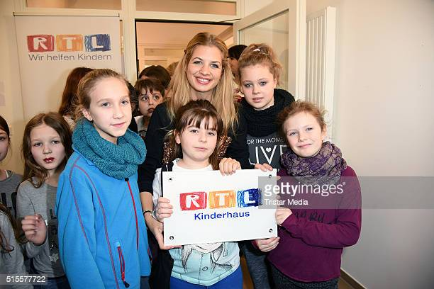 Susan Sideropoulos attends the Opening of the new RTL children's house 'Arche' on March 14 2016 in Berlin Germany