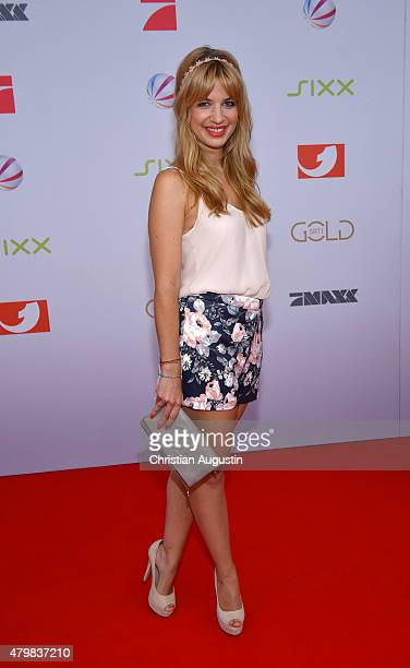 Susan Sideropoulos attends the program presentation of the television channel ProSiebenSat1 at Hamburg Cruise Centre Altona on July 7 2015 in Hamburg...
