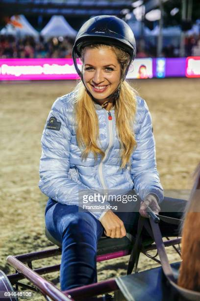 Susan Sideropoulos during the Balve Optimum International Horse Show on June 10 2017 in Balve Germany