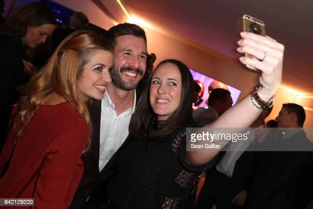 Susan Sideropoulos Jochen Schropp and guest attend the 99FireFilmsAward at Admiralspalast on February 16 2017 in Berlin Germany