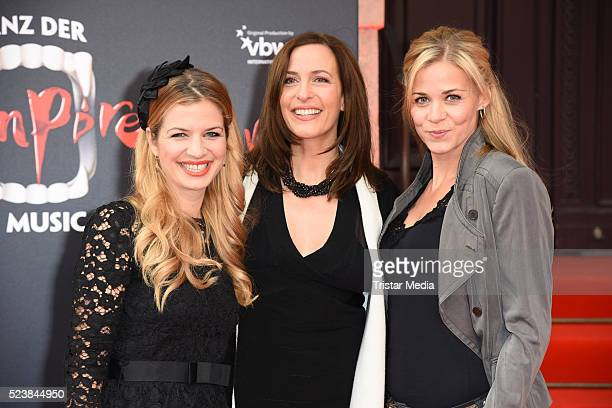 Susan Sideropoulos Ulrike Frank and Jessica Ginkel attend the 'Tanz der Vampire' Musical Premiere on April 24 2016 in Berlin Germany