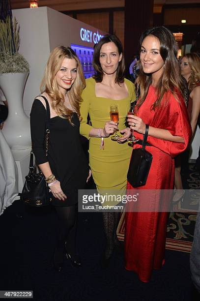 Susan SideropoulosUlrike Frank and Janina Uhse at the Medienboard BerlinBrandenburg reception with Grey Goose at Ritz Carlton on February 8 2014 in...