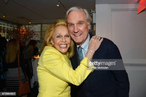Susan Silver and David Patrick Columbia attend Susan Silver's Memoir Signing Celebration at Michael's on April 20 2017 in New York City