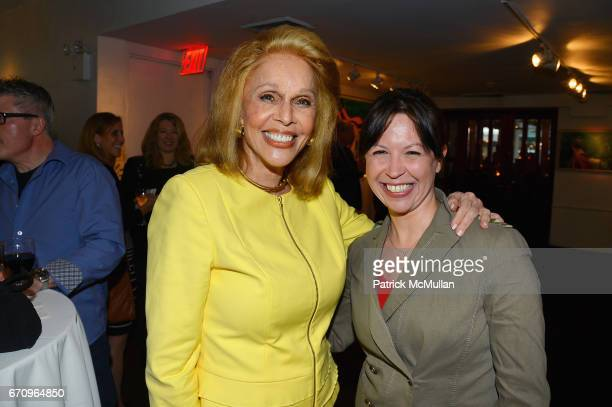 Susan Silver and Jennifer Keishin Armstrong attend Susan Silver's Memoir Signing Celebration at Michael's on April 20 2017 in New York City