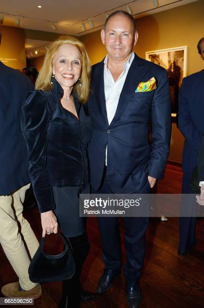 Susan Silver and John Demsey attend the Opening Reception for Judy Glickman Lauder Upon Reflection at Howard Greenberg Gallery on April 6 2017 in New...