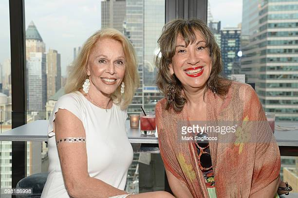 Susan Silver and Judy Twersky attend as DuJour Media celebrates its new home at Space 530 with a rooftop soiree on August 31 2016 in New York City