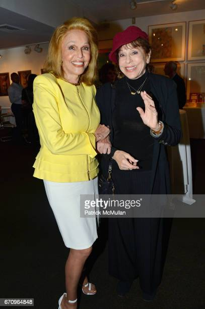 Susan Silver and Louise Sorel attend Susan Silver's Memoir Signing Celebration at Michael's on April 20 2017 in New York City