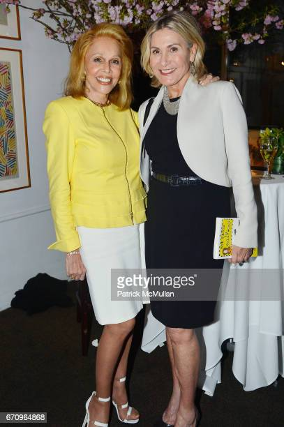 Susan Silver and Susan Magrino Dunning attend Susan Silver's Memoir Signing Celebration at Michael's on April 20 2017 in New York City