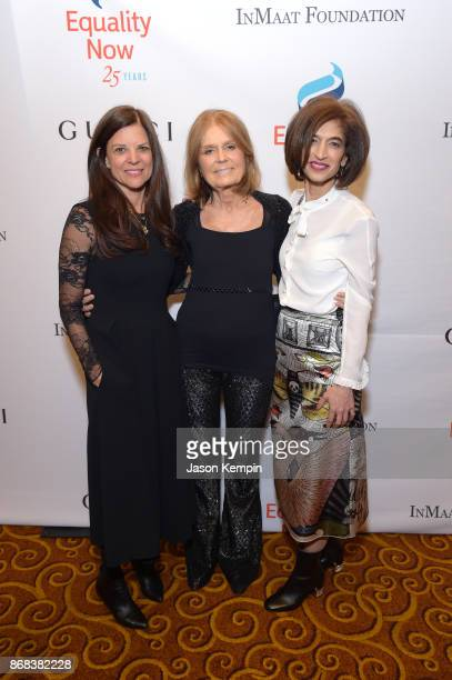 Susan Smalley Gloria Steinem and Yasmeen Hassan attend as Equality Now celebrates 25th Anniversary at 'Make Equality Reality' Gala at Gotham Hall on...