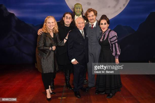 Susan Stroman Ross Noble Shuler Hensley Mel Brooks Hadley Fraser and Lesley Joseph attend the press night performance of 'Mel Brooks' Young...