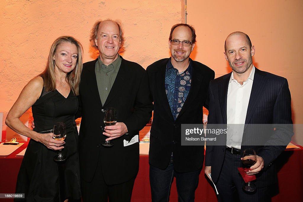 Susan Sullivan, Ron Wilcock, Bob Frank and Dan Zucker attend T.J. Martell Foundation's Annual World Tour of Wine Dinner at The Angel Orensanz Foundation on November 14, 2013 in New York City.