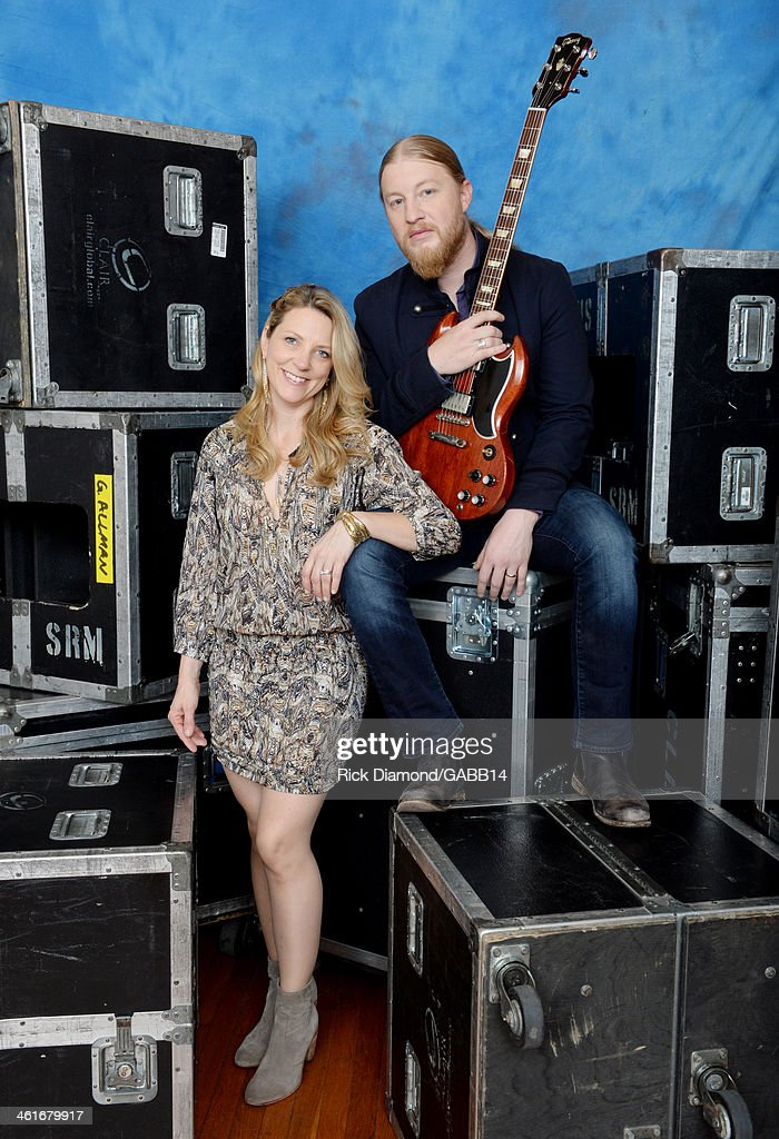 Susan Tedeschi and Derek Trucks poses for a portrait at All My Friends: Celebrating the Songs & Voice of Gregg Allman at The Fox Theatre on January 10, 2014 in Atlanta, Georgia.