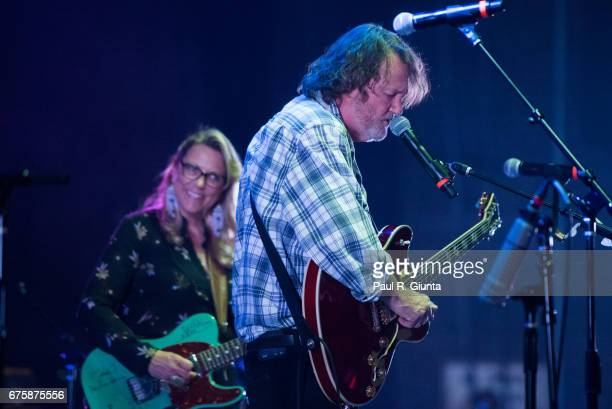 Susan Tedeschi and John Bell perform on stage during Hampton 70 at The Fox Theatre on May 1 2017 in Atlanta Georgia