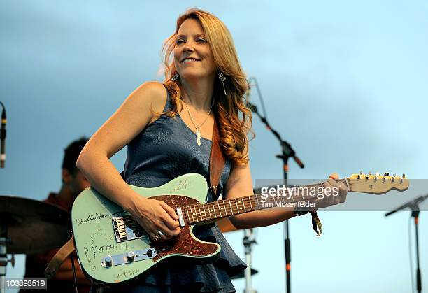 Susan Tedeschi of Derek Trucks Susan Tedeschi performs as part of the Mile High Music Festival at Dick's Sporting Good's Park on August 14 2010 in...