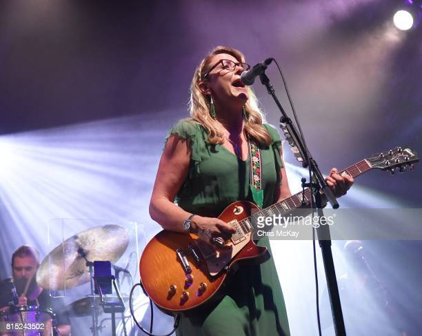 Susan Tedeschi of Tedeschi Trucks Band performs at The Fox Theatre on July 15 2017 in Atlanta Georgia